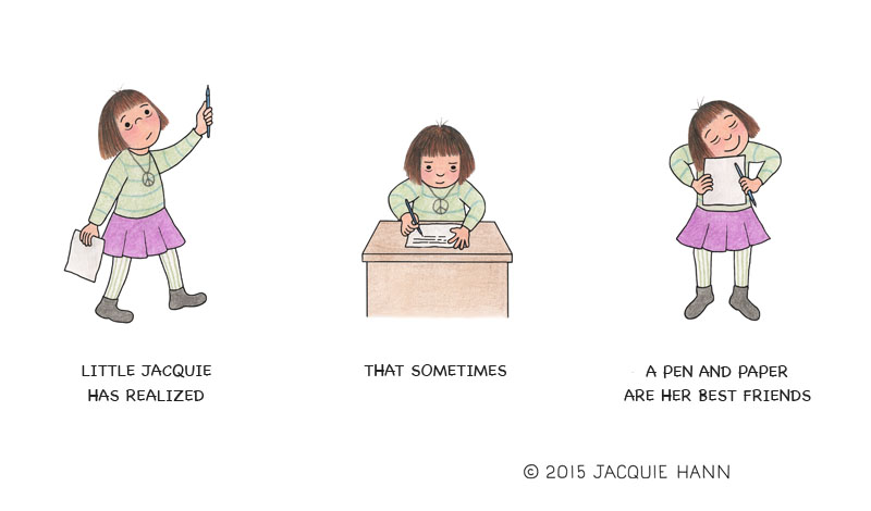 Little Jacquie on Pen and Paper by Jacquie Hann