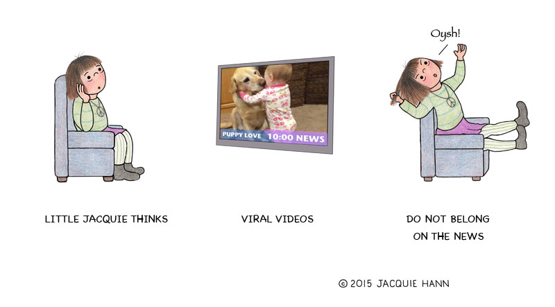 Little Jacquie on Viral Videos by Jacquie Hann