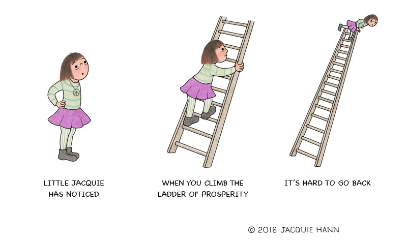 Little Jacquie on Climbing the Ladder by Jacquie Hann