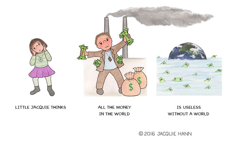 Little Jacquie on Money by Jacquie Hann