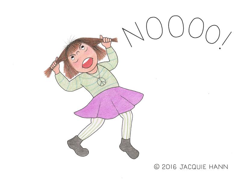Little Jacquie Nooooooo by Jacquie Hann