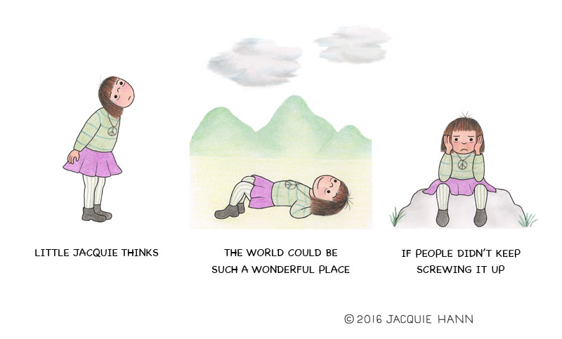 Little Jacquie on A Wonderful World by Jacquie Hann