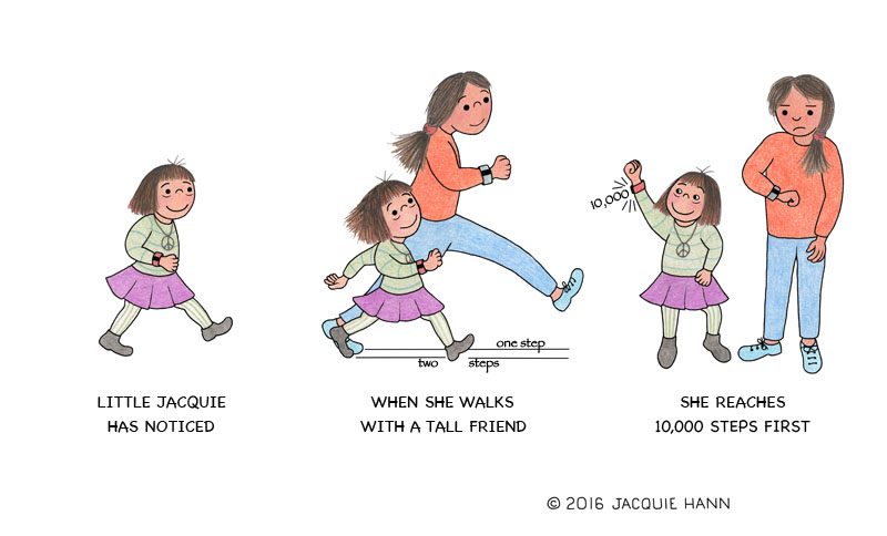 Little Jacquie on Fitbits by Jacquie Hann