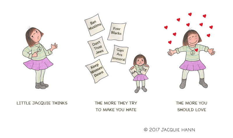 Little Jacquie on Love by Jacquie Hann