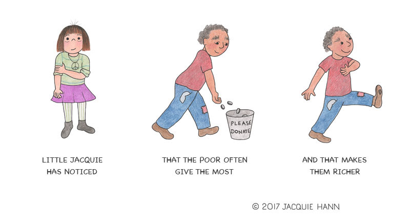 Little Jacquie on the Poor by Jacquie Hann