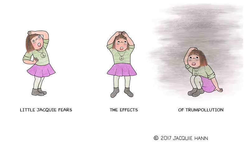 Little Jacquie on Trumpollution by Jacquie Hann