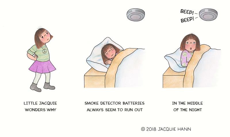 Little Jacquie on Smoke Detectors