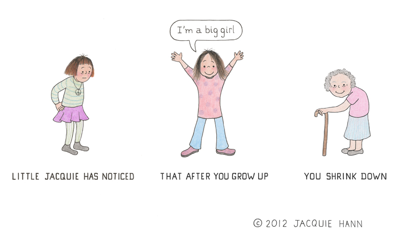 Little Jacquie on Growing Up by Jacquie Hann