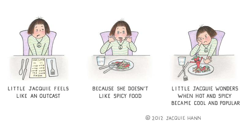 Little Jacquie on Spicy Food by Jacquie Hann