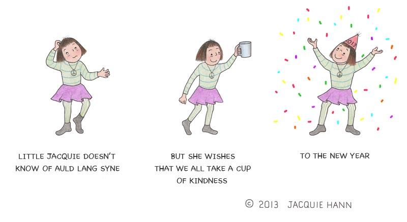 Little Jacquie Raises a Cup by Jacquie Hann