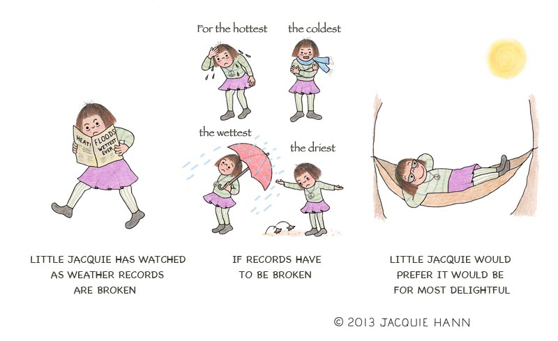Little Jacquie on Extreme Weather by Jacquie Hann