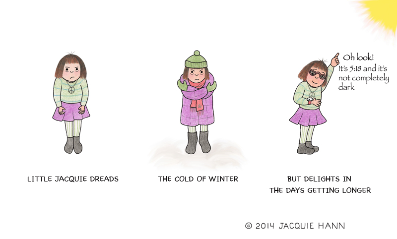 Little Jacquie on Winter by Jacquie Hann