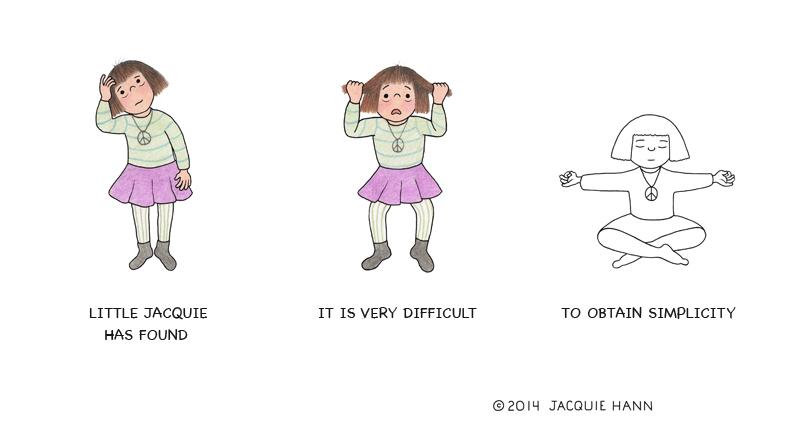 Little Jacquie on Simplicity by Jacquie Hann