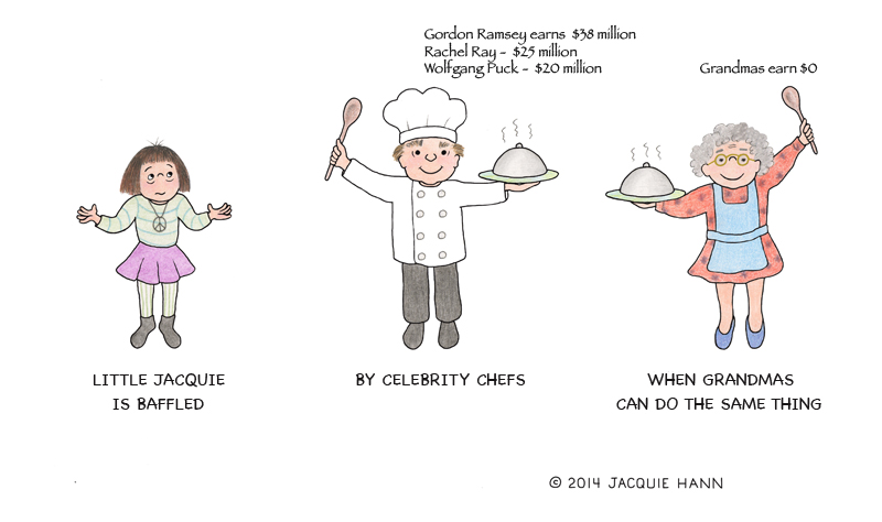 Little Jacquie on Celebrity Chef by Jacquie Hann