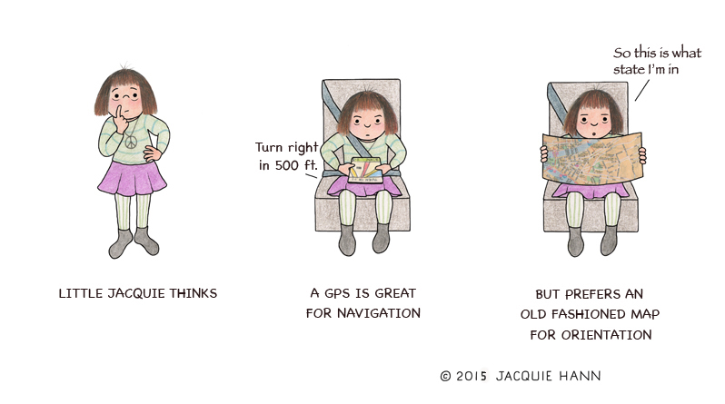 Little Jacquie on GPS by Jacquie Hann