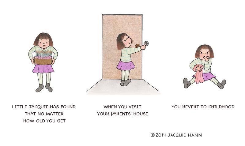 Little Jacquie on Visiting Parents by Jacquie Hann