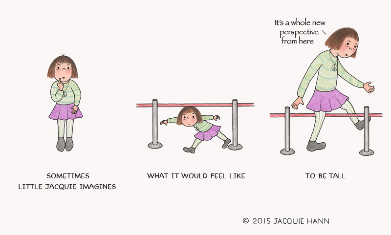 Little Jacquie on Being Tall by Jacquie Hann